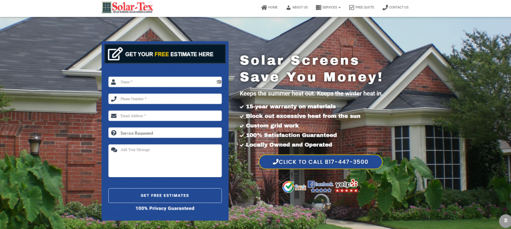 solar screens fort worth
