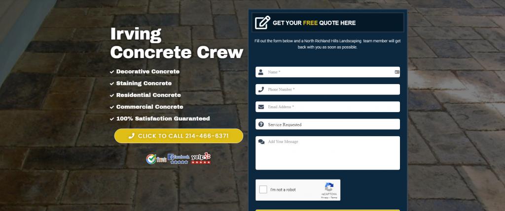 irving concrete crew