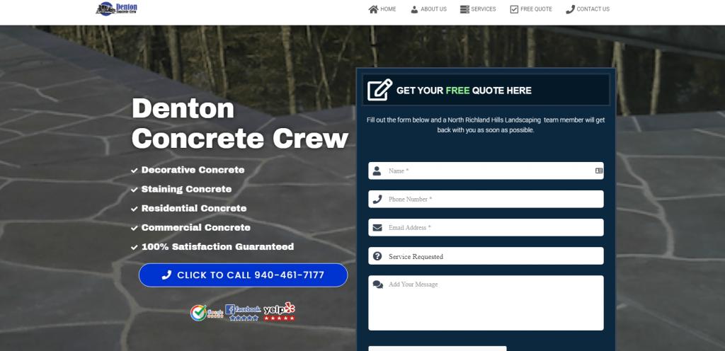 denton concrete crew