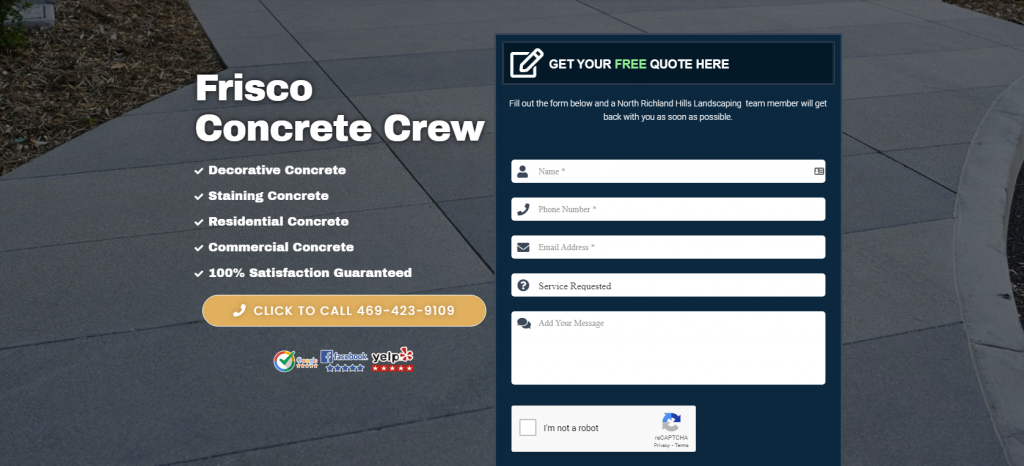 frisco concrete crew